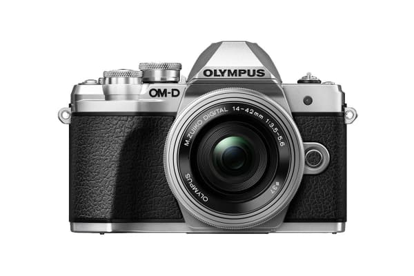 Olympus OM-D E-M10 Mark III Mirrorless Camera Single Lens Kit with 14-42mm EZ Lens - Silver