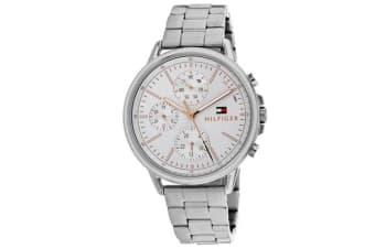 Tommy Hilfiger Men's Sport Watch (Silver Dial, Stainless Steel Bracelet)
