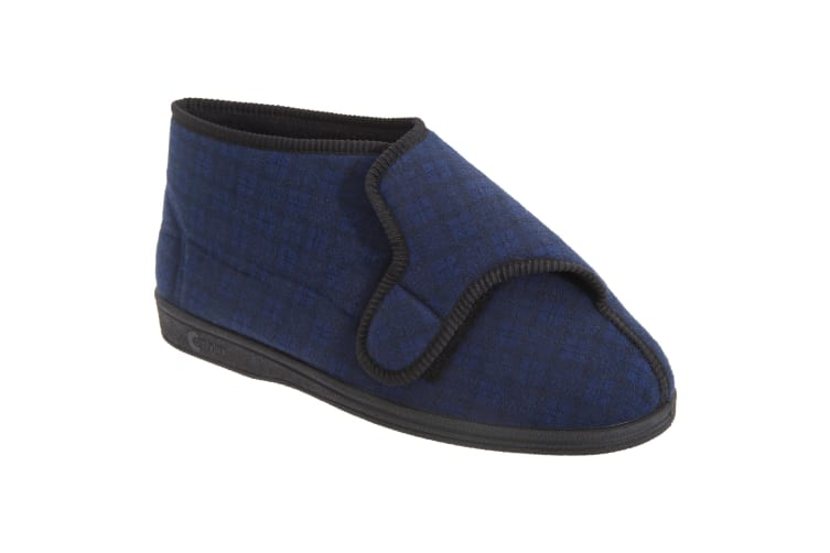 Comfylux Mens Gerry Superwide Bootee Slippers (Navy Blue) (10 UK)
