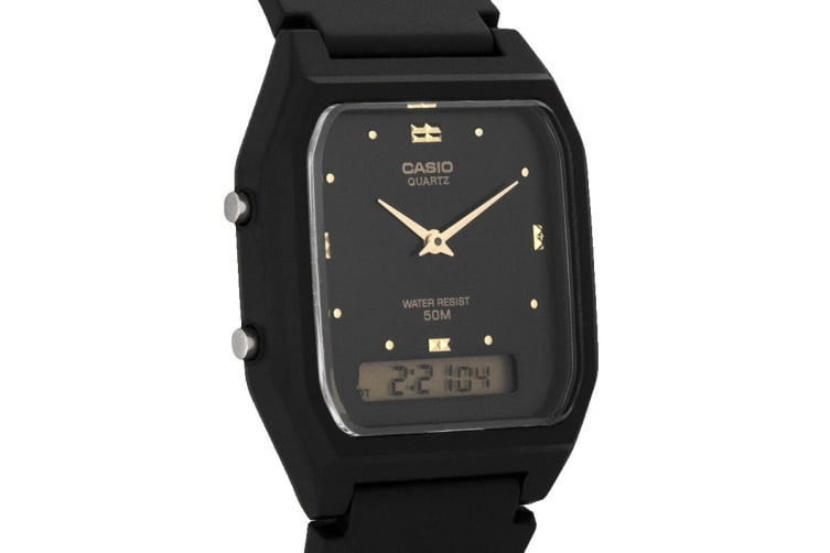 Casio G-Shock Analog Digital Watch with Resin Band - Black (AW48HE-1A)