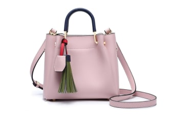 Womens Purses And Handbags For Women Totes Purse Satchels Shoulder Handbag Tassel Pink