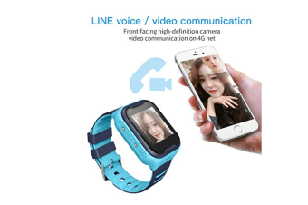 Waterproof 4G Kids Smart Watch Support Bluetooth Connect-Blue