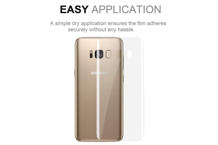 For Samsung Galaxy S8 Fully Curved Edge to Edge High-Quality Back Protector