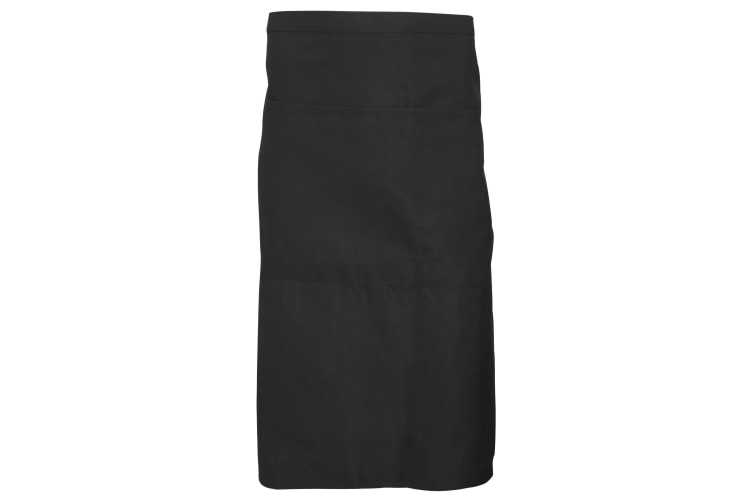Dennys Adults Unisex Catering Waist Apron With Pocket (Black) (One Size)