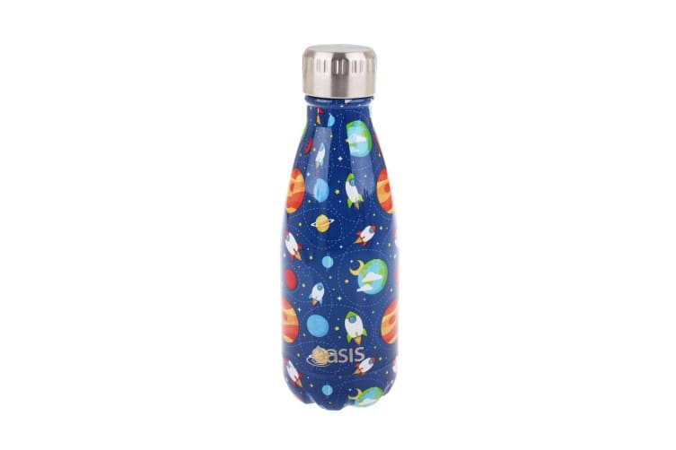 Oasis Stainless Steel Double Wall Bottle Outer Space 350ml