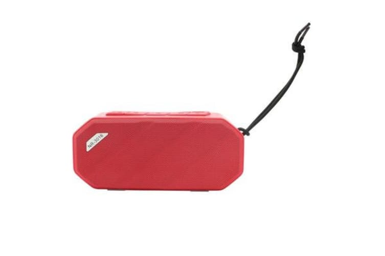 Bluetooth V2.1 Portable Stereo Speaker Water Resistant Usb Tf Fm Red