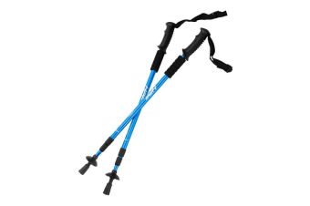 HPF Blue Anti-Shock Adjustable Trekking Pole Hike Stick