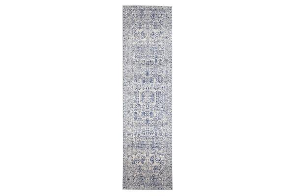 Frost Blue Transitional Rug 400x80cm