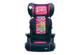 Barbie Foldable/Adjustable Car Seat Booster w/Cup Holder Toddler/Child 4yr+ Pink