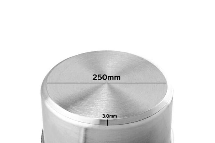 SOGA Stock Pot 9L Top Grade Thick Stainless Steel Stockpot 18/10 Without Lid