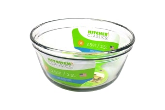 Kitchen Classics 2.5L Glass Mixing Bowl Measuring Tool