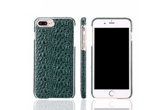 For iPhone 8 PLUS 7 PLUS Case Fierre Shann Crocodile Genuine Leather Cover Green