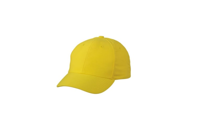 Myrtle Beach Adults Unisex 6 Panel Polyester Peach Cap (Lemon) (One Size)