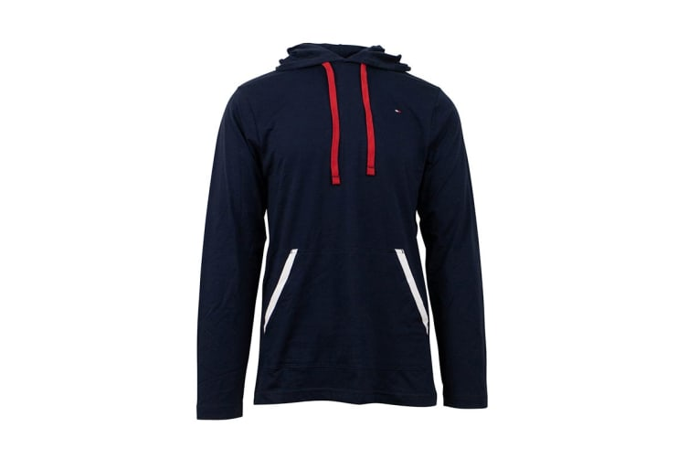 Tommy Hilfiger Men's Jersey Hoodie With Contrast Rib (Dark Navy, Size S)