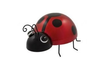 Supa Decor Metal Ladybird Garden Decoration (Red/Black) (10.5 x 20.5 x 17cm)
