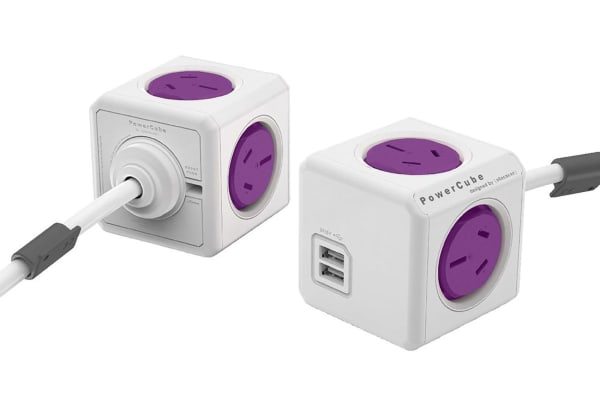 Allocacoc PowerCube 1.5m with 4 Power Outlets & 2 USB - Purple (ALL-POWERCUBE54-PR)