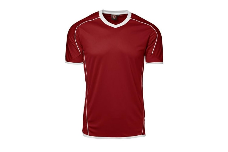 ID Mens Team Sport Fitted Short Sleeve T-Shirt (Red) (M)