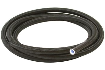 Aeroflow Black Braided Teflon Hose -6AN SS 2M Clamshel Pack 11.3mm Od