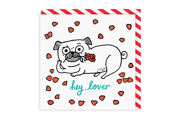 Ohh Deer Hey Lover Square Greeting Card (Multicoloured) (One Size)