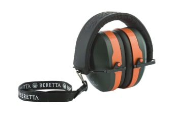 Beretta Gridshell Earmuff Green With Orange