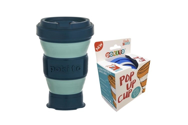 Pokito 475ml Hot Cold Pop Up Cup Collapsible Reusable Travel Eco-Friendly Green