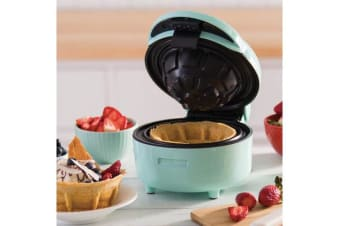 Todo Waffle Bowl Maker Ice Cream Dessert Treat Maker Breakfast Bowl - Green