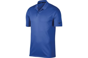 Nike Mens Victory Polo Solid Shirt (Game Royal/Black)