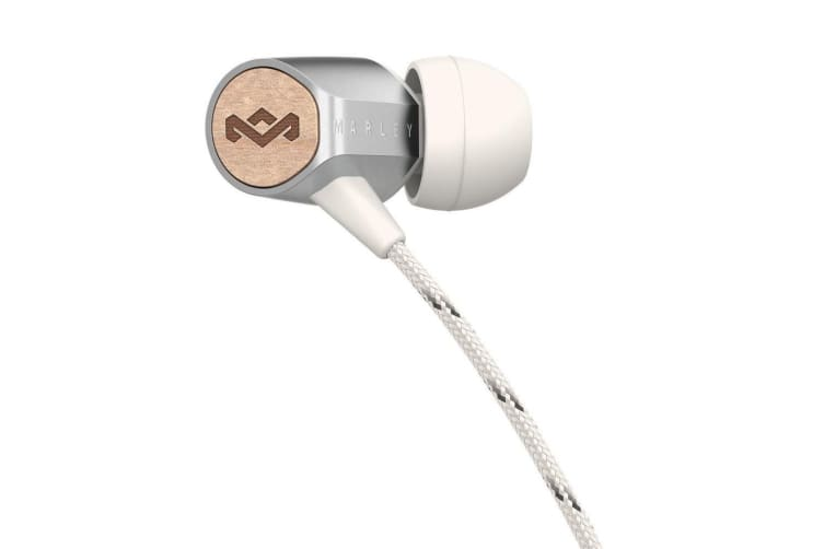 House of Marley Uplift 2 In-Ear Earphones Headset Mic/Remote For IOS Apple Siver