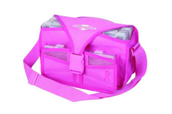 Flambeau Pink Kwikdraw Softside Tackle Bag With 3 Tackle Trays