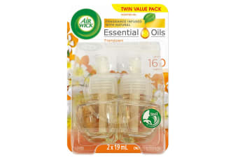 2pc Air Wick 19ml Scented/Essential Oil Refill f/ Electric Diffuser Frangipani