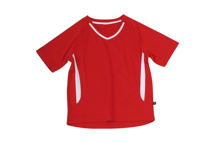 James and Nicholson Childrens/Kids Team Tee (Red/White) (XS)