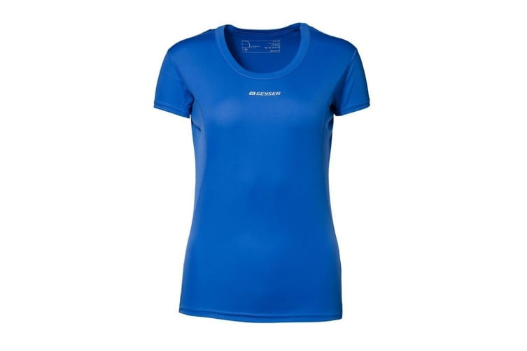 ID Womens/Ladies Active Short Sleeve Fitted Sport T-Shirt (Royal blue) (M)