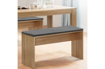 Artiss Dining Bench Upholstery Seat Stool Chair Cushion Furniture Oak 90cm