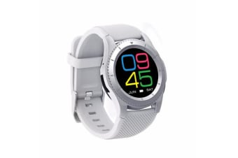 TODO Bluetooth V4.0 Touch Lcd Smart Watch Rechargeable Heart Rate Monitor - Wht