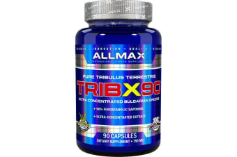 ALLMAX Nutrition TribX90 Ultra-Concentrated Bulgarian Tribulus, 90% Furostanolic Saponins - 750 mg, 90 Capsules