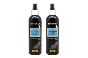2PK Animology Purrfect Condition 250ml Coat Conditioning Pet Cat Papaya Spray