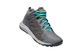 Keen Explore Mid WP Womens Steel Grey bright Turquoise - 6