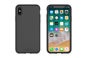 best website eee0c 82c69 Cygnett Skin Soft feel Case for iPhone Xs Max - Black (CY2617CPSKI)