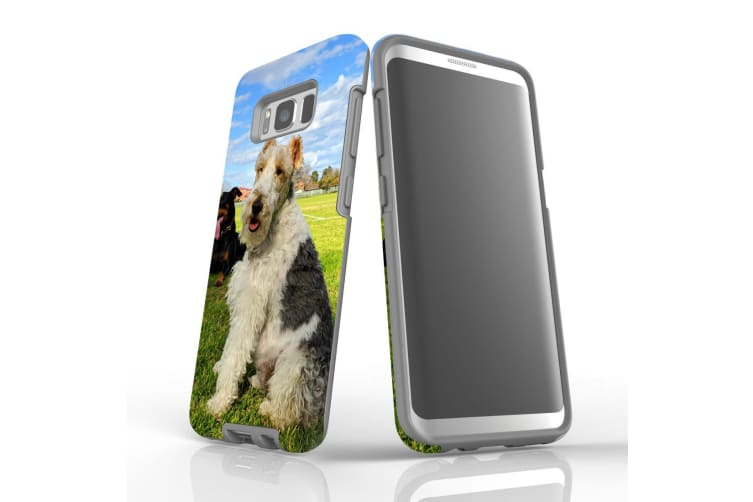 For Samsung Galaxy S8 Case Armour Cover  Dogs Fun at the Park
