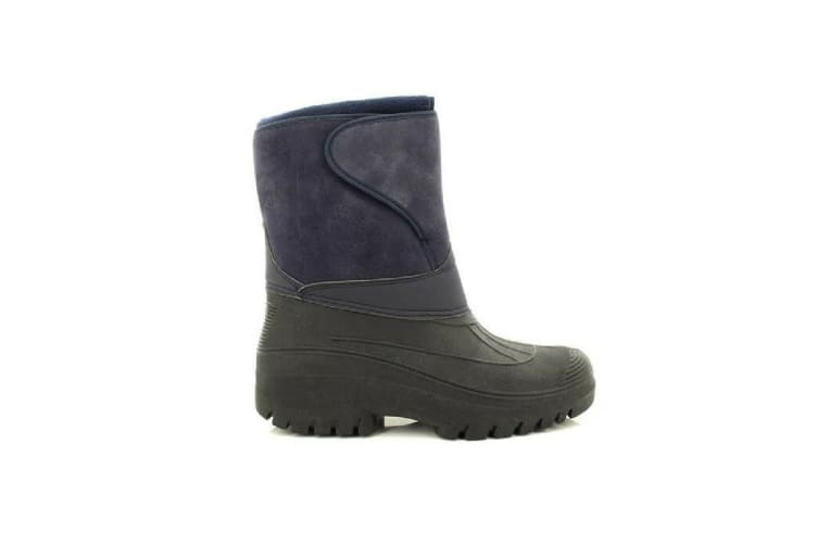 StormWells Adults Unisex Touch Fastening Insulated Boots (Navy Blue) (6 UK)