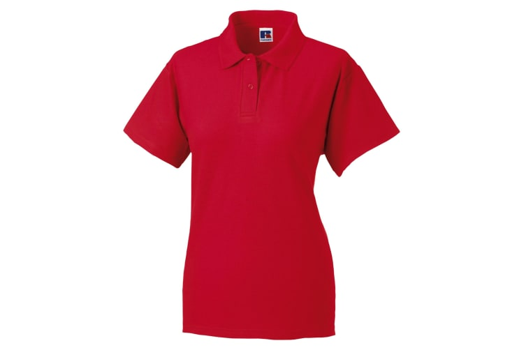 Jerzees Colours Ladies 65/35 Hard Wearing Pique Short Sleeve Polo Shirt (Classic Red) (S)