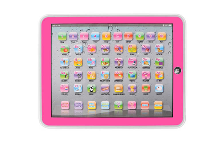 Select Mall Educational Toys Dot Reading Machine English Early Education Machine IPAD Tablet Learning Machine for Children-Pink