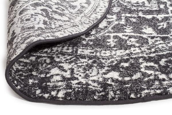 Scape Charcoal Transitional Rug 200x200cm