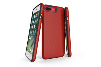 For iPhone 8  7  6 & 6S Case  Red Armor Slim Shockproof Protective Phone Cover