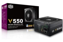 Coolermaster VS 550W 80+Gold Semi-Modular 120mm Fan, ATX PSU,  5 Years Warranty