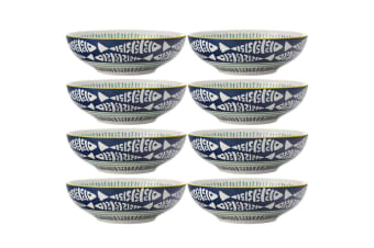 8PK Maxwell & Williams Laguna 18cm Porcelain Pasta Noodles Coupe Bowl Driftwood
