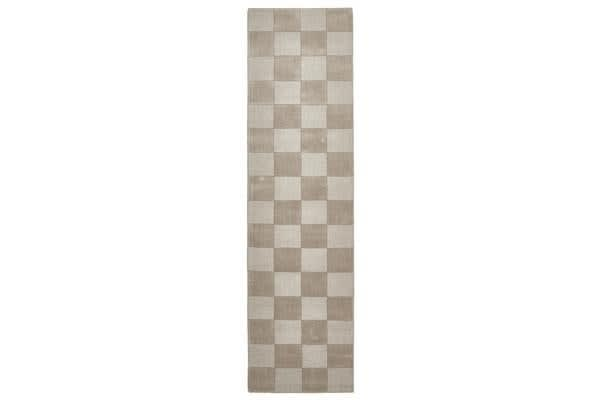 Wool Hand Tufted Rug - Box Taupe - 300x80cm