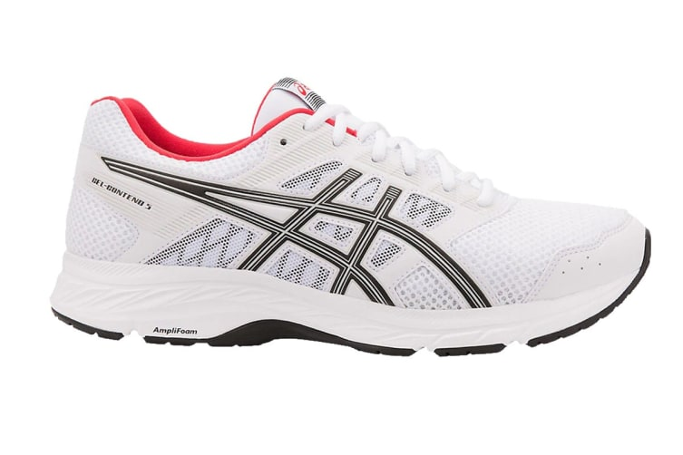 ASICS Men's GEL-Contend 5 Running Shoe (White/Black, Size 13)