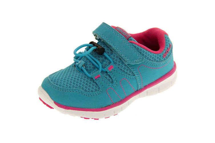 Gola Sport Childrens Girls Active Termas Toggle Lightweight Multisport Trainers (Blue/Pink) (8 Child UK)