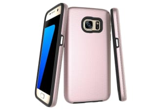 For Samsung Galaxy S7 Case  Rose Gold Armor Shockproof Protective Phone Cover